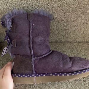 Ugh bailey bow kids boots sz 2